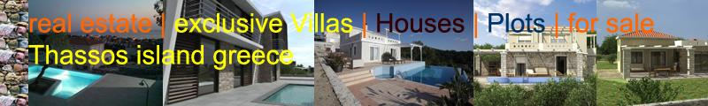 real estate properties houses villas at Thassos Greece
